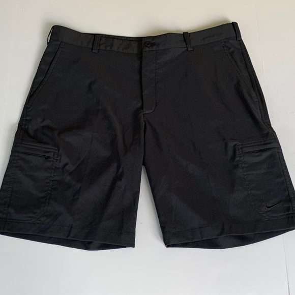 Nike Other - Nike Golf Dri Fit Flat Front Cargo Shorts Black 36